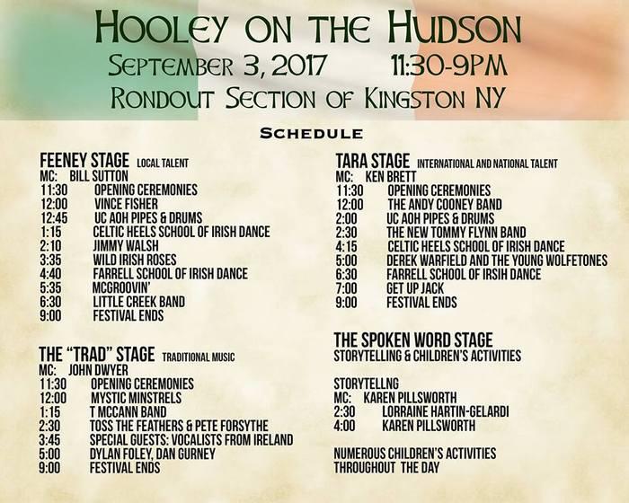 Hooley Schedule