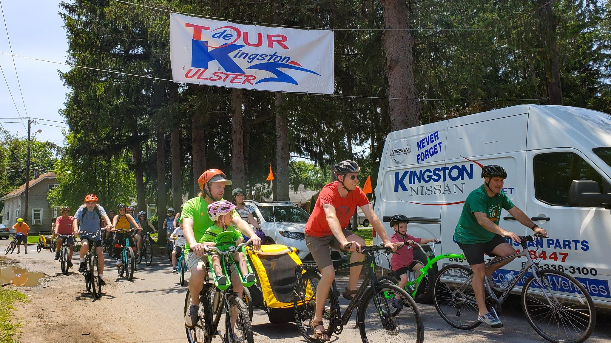 Tour de Kingston returning to Forsyth Park in Kingston, NY